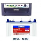 Luminous 850VA Sinewave Home UPS + 120AH Tubular Battery Combo